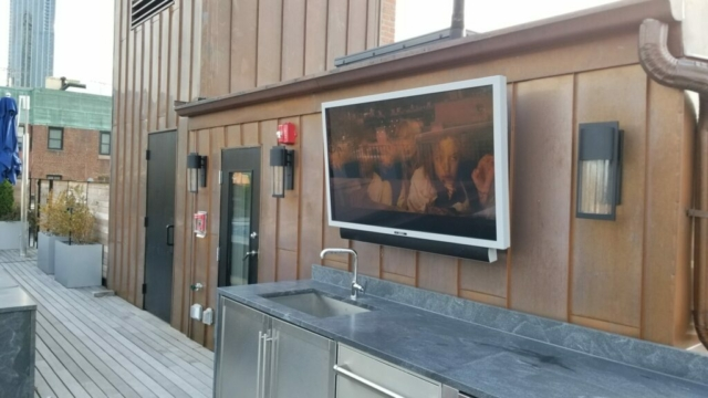 Brownstone Roof Deck TV