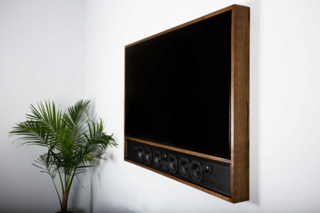 Showroom Livingroom custom TV frame
